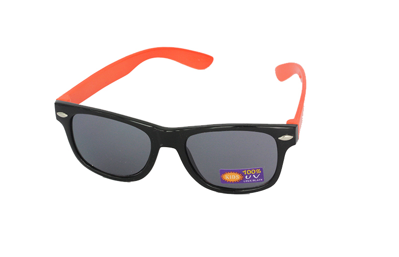 Børne wayfarer i sort-orange
